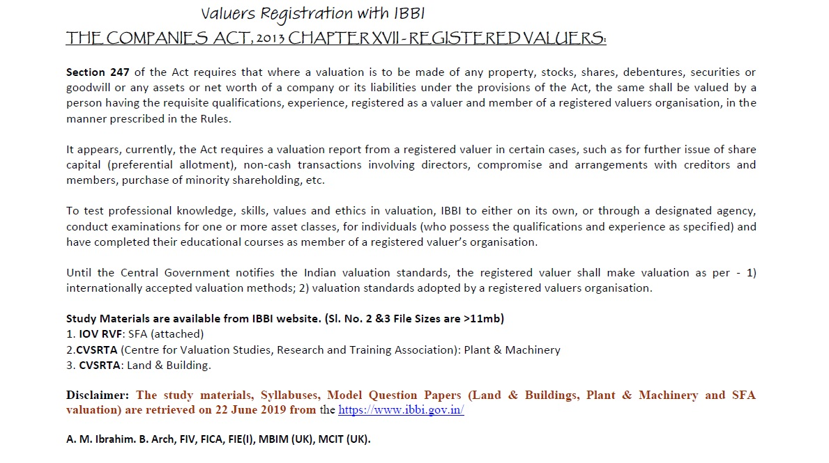 Valuers World :: View topic - Valuation of Plant & Equipment